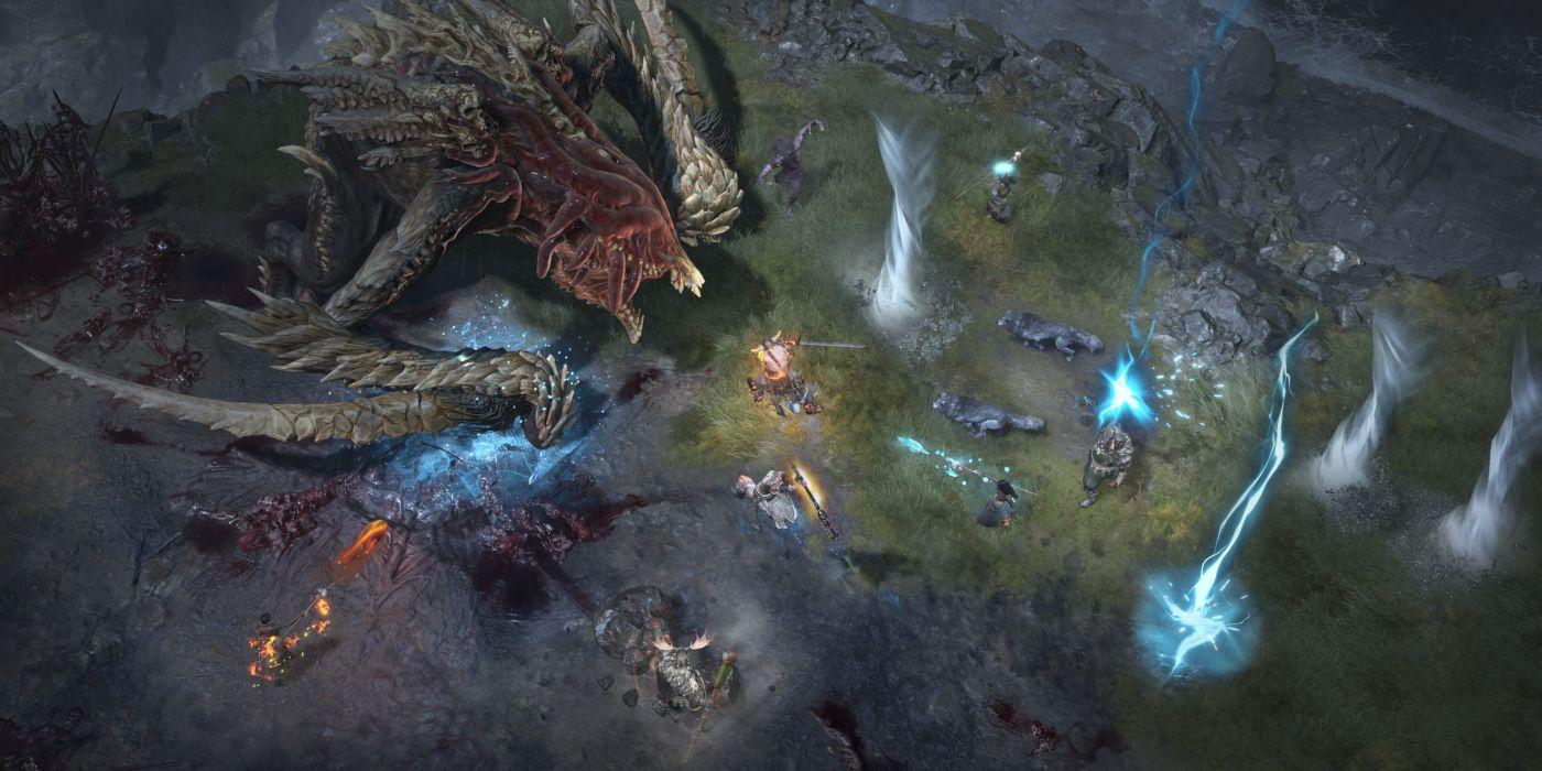 Diablo 4 Reveals 8-Player World Boss Gameplay