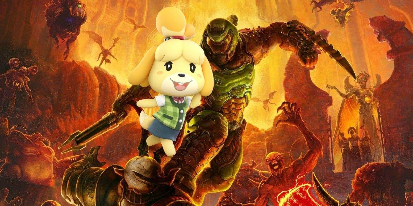 Animal Crossing Developers Comment On Doom Crossover Art