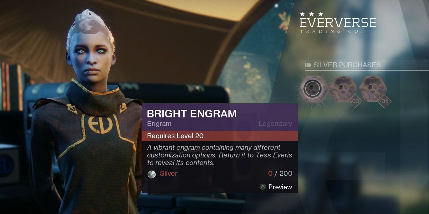 Destiny 2 Engrams Bugged When Looking at Player Gear Power Level