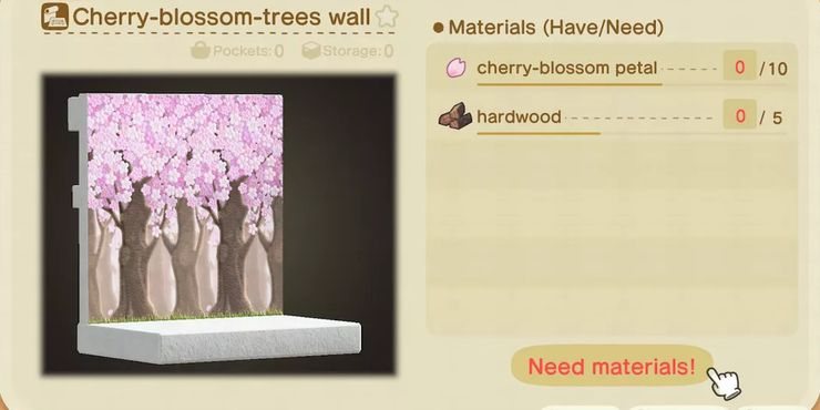 Animal Crossing New Horizons All Cherry Blossom Items And How To Get Recipes