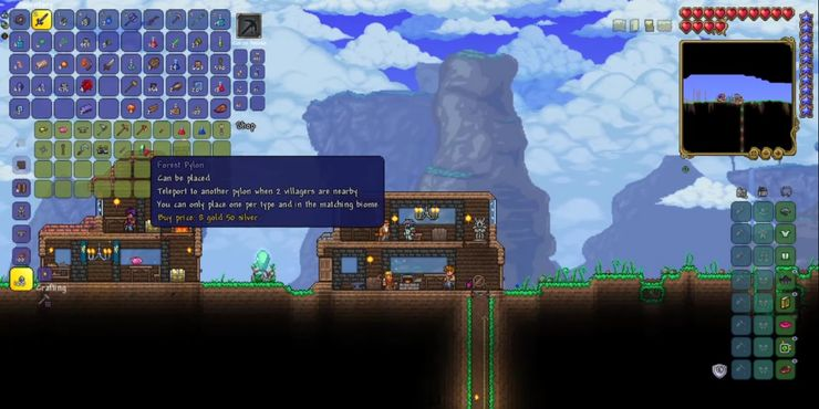 How To Get Pylons And How They Work In Terraria 1 4 Game Rant From this teleporter, you can teleport to planet a or your ship. in terraria 1 4
