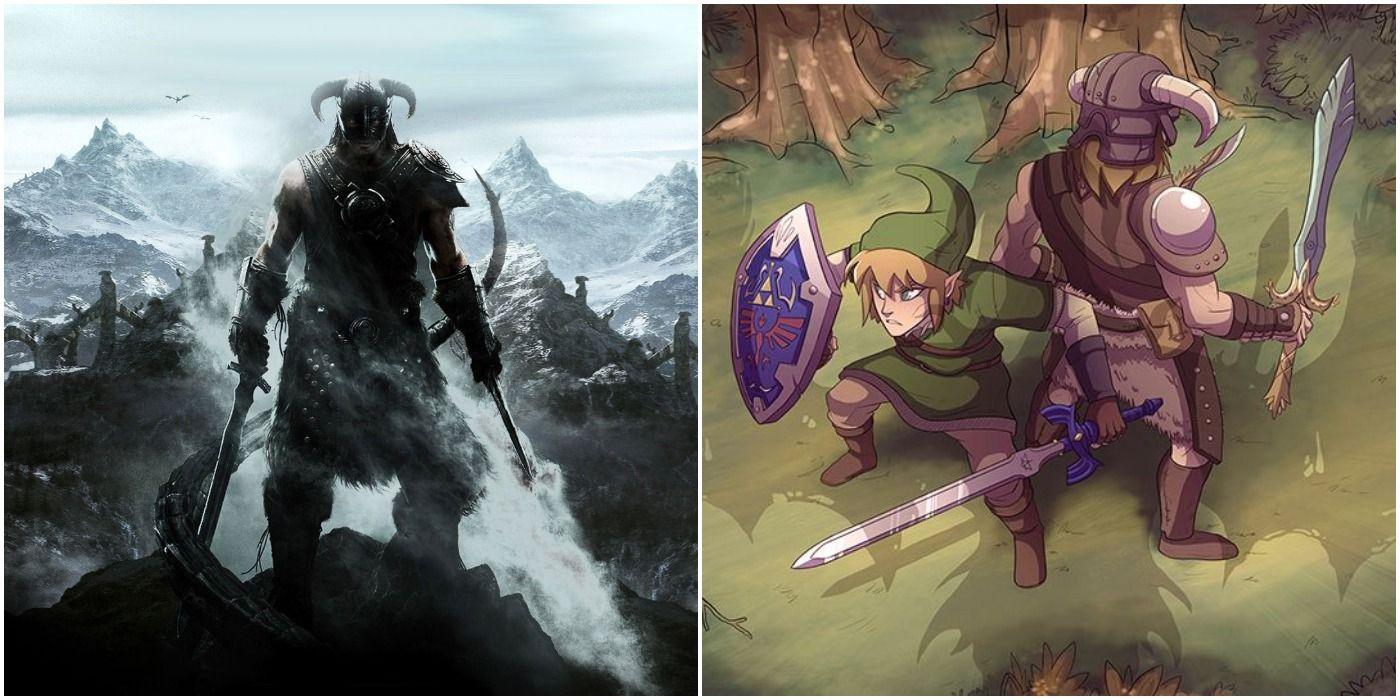 10 Pieces Of Skyrim Crossover Fan Art We Adore Game Rant