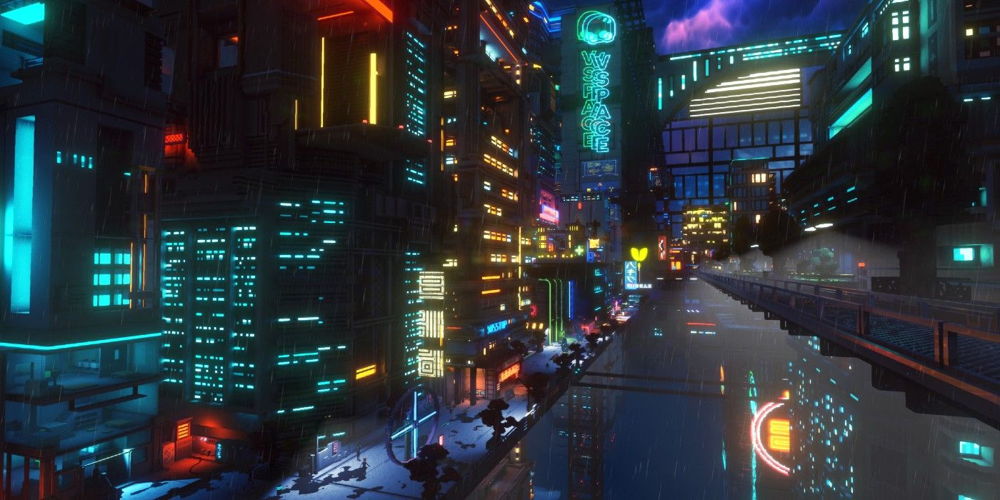 Minecraft Player Creates Insane Cyberpunk Scene | Game Rant
