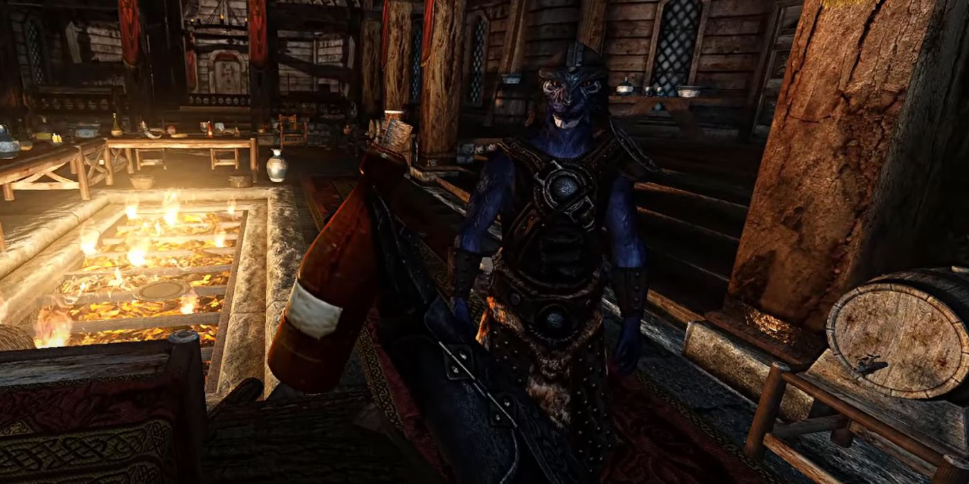 Skyrim VR Mod Adds Half-Life: Alyx's Hand Interaction and Gravity Gloves