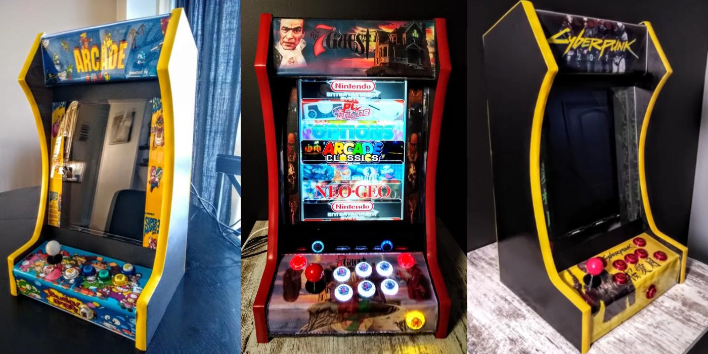 Redditor Spends Quarantine Building Amazing Custom Arcade Machines
