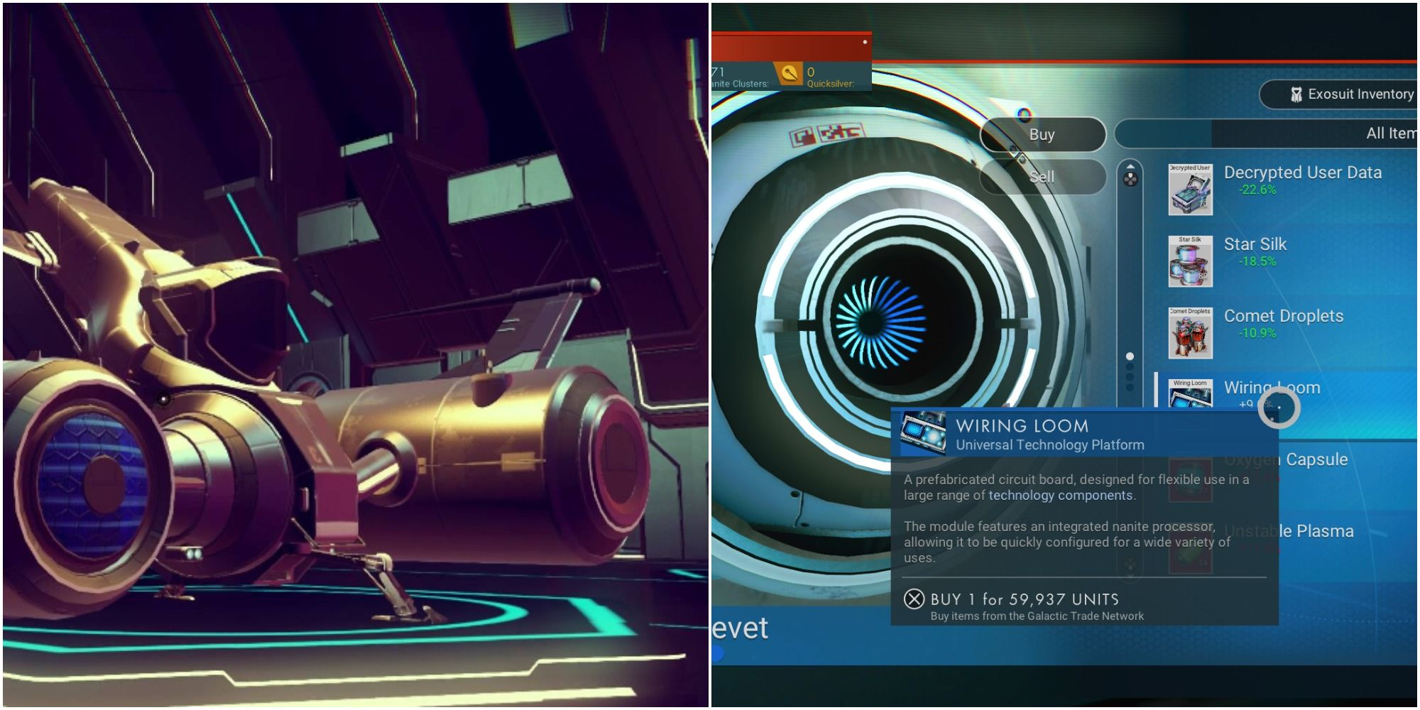 No Man's Sky: How To Get A Wiring Loom (& What They're Used For)