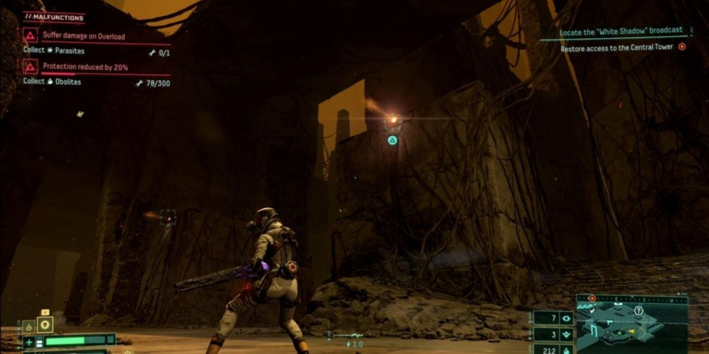Returnal: How to Get Grappling Hook and Climb Orange Lights