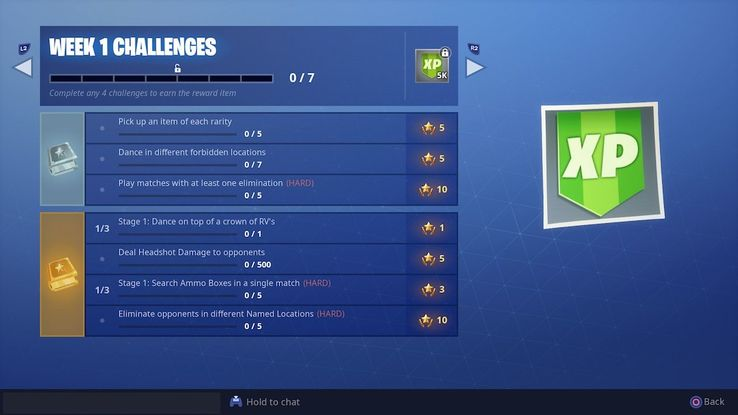 Fortnite: How to Complete All Season 7 Week 1 Challenges