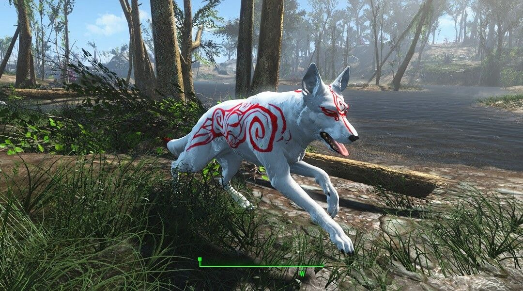 Fallout 4 Mod Gives Dogmeat an Okami Skin | Game Rant