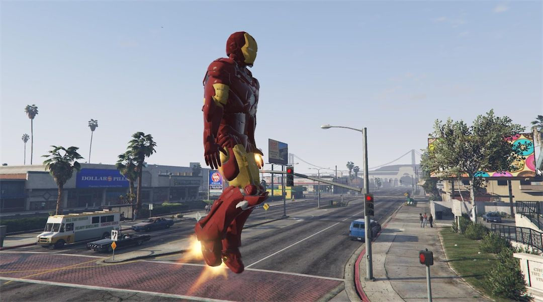 Grand Theft Auto 5 Iron Man Mod Works Much Better   Game Rant