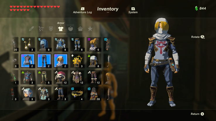 The 5 Best Armor Sets In Zelda Breath Of The Wild The 5
